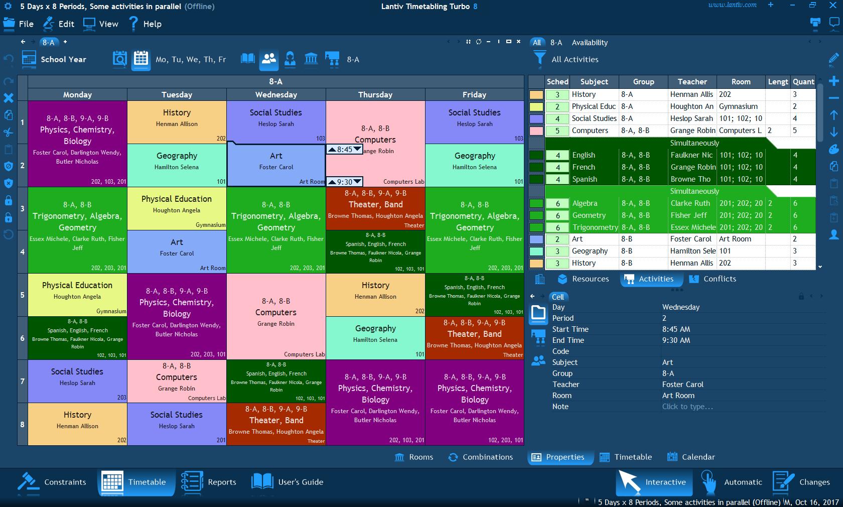 School scheduling software