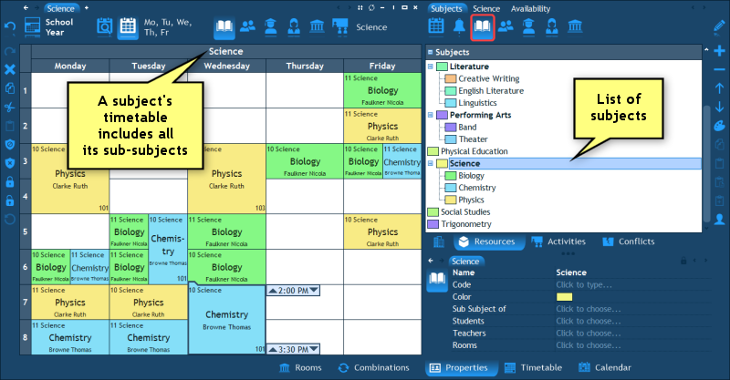 TIMETABLING TURBO™ 2020 | User's Guide | Resources